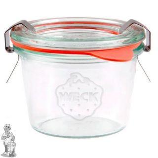 Weckglas mini stort 80 ml. per stuk 080 (exclusief weckklemmen)