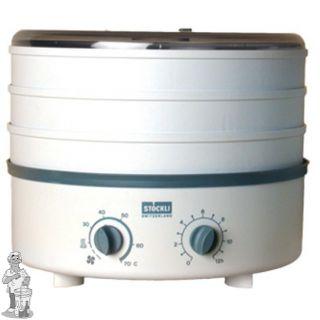 Stöckli droogapparaat incl drie RVS (metalen) roosters. , thermosstaat en tijdschakelaar