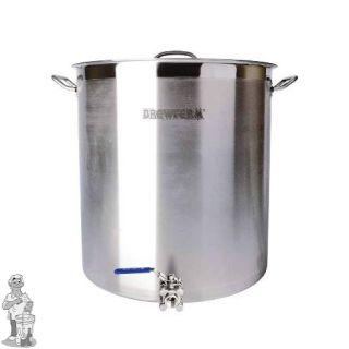 Brewferm brouwketel RVS 143 liter met bolkraan (55 x 60 cm)