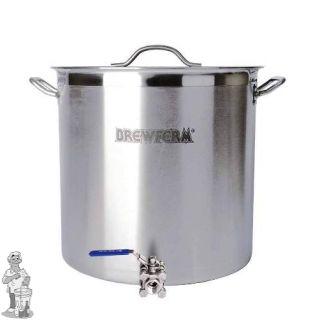 Brewferm brouwketel RVS 70 liter met bolkraan (45 x 45 cm)