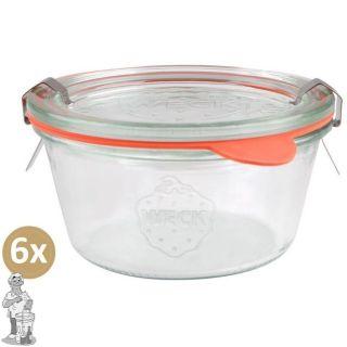 Weckglas stort 0,29 ltr. per doos van 6 stuks 740 (exclusief weckklemmen)