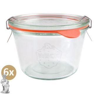 Weckglas stort 0,37 ltr. per doos van 6 stuks 741 (exclusief weckklemmen)