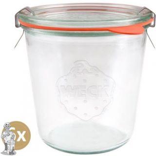 Weckglas stort 0,58 ltr. per doos van 6 stuks 742 (exclusief weckklemmen)