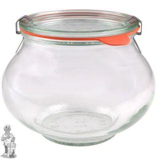 Weckglas sier 1 ltr. per stuk 748 (exclusief weckklemmen)