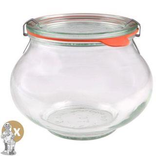Weckglas sier 1 ltr. per doos van 4 stuks 748 (exclusief weckklemmen)