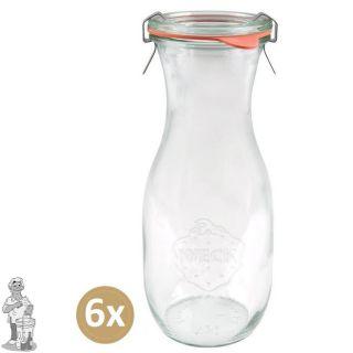 Weckglas sap 0,53 ltr. per doos van 6 stuks 764 (exclusief weckklemmen)