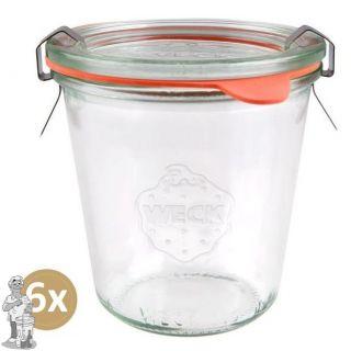 Weckglas stort 290 ml per doos van 6 stuks 900 (exclusief weckklemmen)