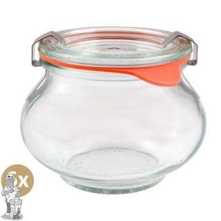 Weckglas sier 0,56 ltr. per doos van 6 stuks 901 (exclusief weckklemmen)