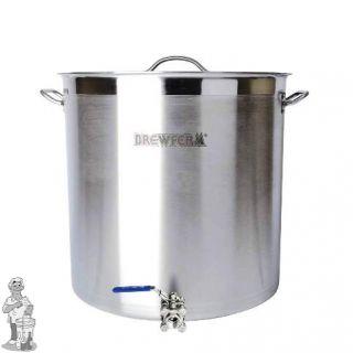 Brewferm brouwketel RVS 98 liter met bolkraan (50 x 50 cm)
