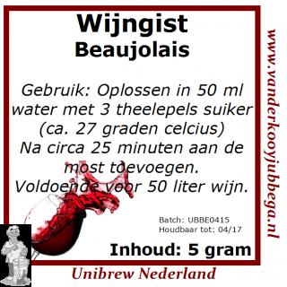 Wijngistsachet Beaujolais