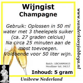 Wijngistsachet Champagne