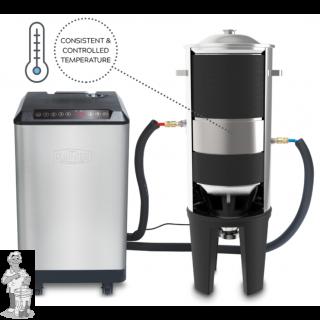 1x Grainfather Glycol Chiller ,1x  Grainfather Conical Fermenter Dual Tap klep en een temperatuurregelaar.