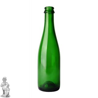 Cider/Geuzefles 37,5 cl, groen, kroonkurk 29 mm