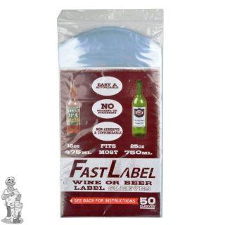 FastLabel beer & wine label sleeves - 750 ml - 50 stuks