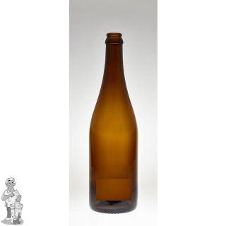 Bier fles Champenoise  Bruin 75 CL 26 mm