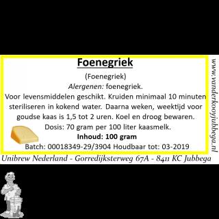 foenegriek/ fenegriek 100 gram