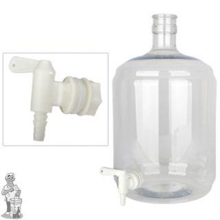 Gistingsfles PET 12 liter met kraan