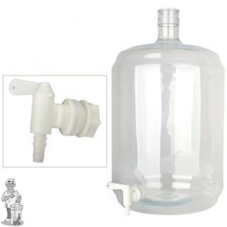Gistingsfles PET 23 liter met kraan