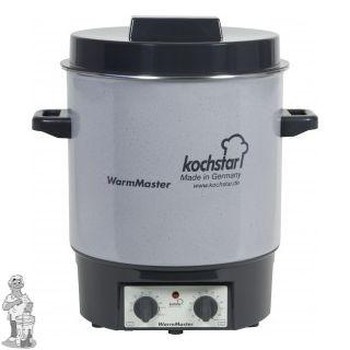 Kochstar emaille pan 27 liter met 1800 Watt verwarmingselement, thermostaat en tijdschakelaar.