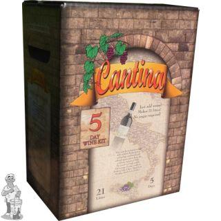Cantina 5 dagen wijnpakket voor 21 liter Chardonnay