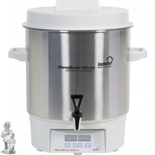 "Kochstar roestvrijstalen pan 27 liter met 1800 W verwarmingselement en digitale thermostaat en 1/2""rvs kraan"