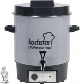 """Kochstar emaille pan 27 liter met verwarmingselement, thermostaat en 1/2"""" kraan."""
