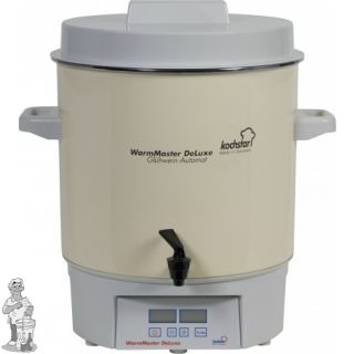 """Kochstar emaïlle 27 liter pan met digitale display, tijd en temperatuurinstelling en 1/4"""" kraan"""