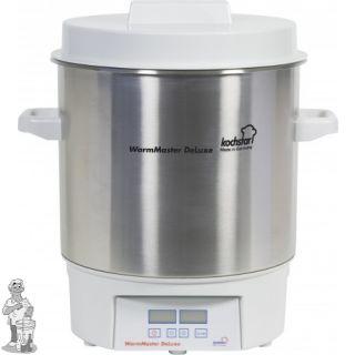 Kochstar Roestvrijstalen 27 liter pan met digitale display, tijd en temperatuurinstelling.