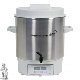 """Kochstar roestvrijstalen pan 27 liter met 1800 W verwarmingselement en digitale thermosstaat en 1/4""""kraan"""