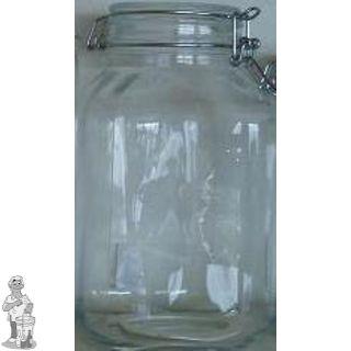 Glazen voorraadpot 4 liter met klemdeksel