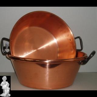 Confituurkookpot / jam kook pan 27- 38cm 9 l koper (alle vuren, geen inductie)