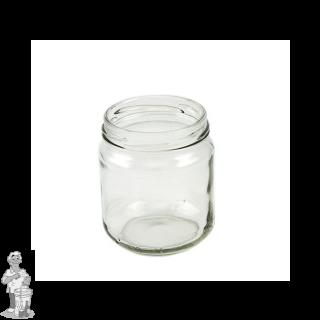 Jampot rond laag 210 ml incl twist off deksel 63mm.