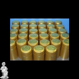 Krimpcapsules voor Champagnefles goud 34,5x55 100st
