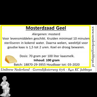 mosterdzaad geel 100 gram