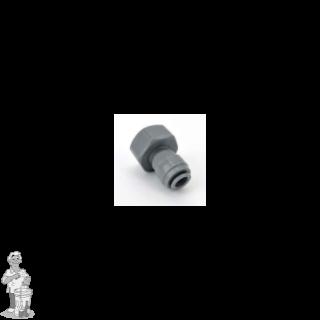 """Duotight verbindingsstuk 8 mm (5/16"""") push-in koppeling naar 5/8"""" nr 4  met slangtuit"""