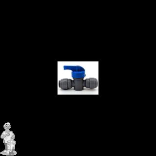 """Duotight 8 mm (5/16"""") push-in koppeling verbindingsstuk met bolkraan nr 8 met bolkraan"""