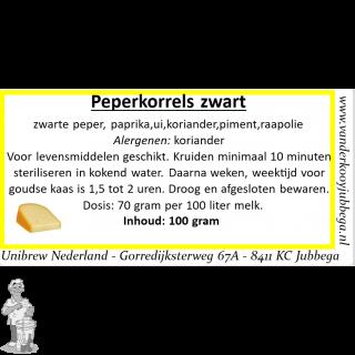 peperkorrels zwart 100 gram