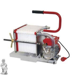 RVS platenfilter 20x20 met elektropomp 18 platen
