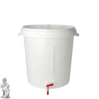 Bottel emmer 30 liter met deksel, bottelpijp en aftapkraan