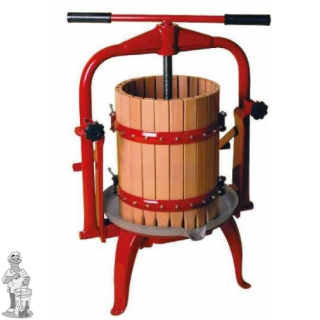 Fruitpers type 30: inhoud 30 liter Vaste vijzel dubbel racagnac systeem