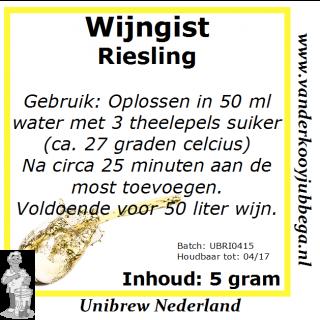 Wijngistsachet Riesling