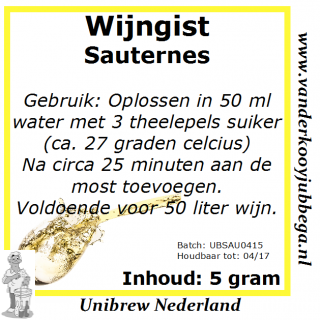 Wijngistsachet Sauterness