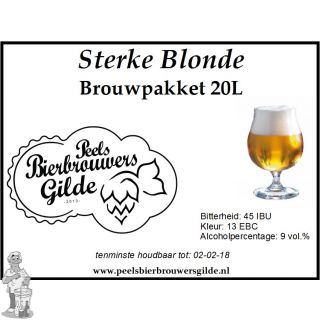 Peels Bierbrouwpakket Sterke Blonde 20 Liter