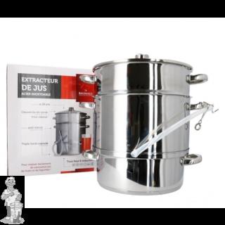 Stoomextractor 10 liter RVS plus 6 Sapflessen 1 Liter