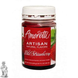 Amoretti - Artisan Natural Flavors - Wilde aardbei 226 g