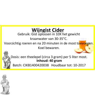 Wijngist Cider 40 gram