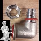 Ss Brewtech™ tuit met blow-off ventiel voor FTSs en Brew Bucket deksels